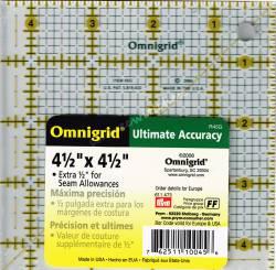 Patchworklineal mit Inch-Skala Quadrat 4 1/2 Inch (PRYM 611473)