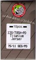 Nähmaschinennadeln Titanium Nadeln 75/11 Jersey SES/PD