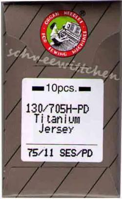 Nähmaschinennadeln Organ Titanium Nadeln 75/11 Jersey SES/PD