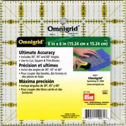 Patchworklineal mit Inch-Skala  Quadrat 6 Inch  (PRYM 611475)