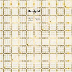 Patchworklineal mit Inch-Skala  Quadrat  9 1/2 Inch (PRYM 611480)