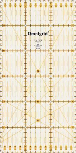 Patchworklineal mit cm-Skala  15 x 30 cm mit Winkel  (PRYM 611307)