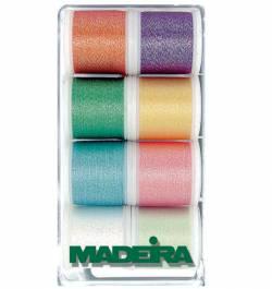 MADEIRA 8010 Maschinenstickgarn Box OPAL Metallic