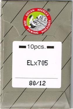 Overlock-/Coverlocknadeln ELx705 80/12 Brief à 10 Nadeln