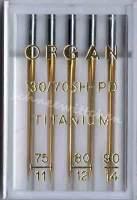 Nähmaschinennadeln Organ Titanium Nadeln Sortiment 75/90 PD