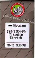 Nähmaschinennadeln Organ Titanium 75/11 SUK/PD - für Sweatshirtstoffe