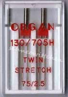 Nähmaschinennadeln Zwillingsnadeln Stretch 2x 75/2,5