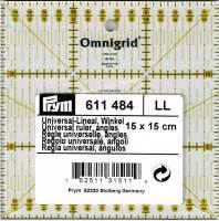 Patchworklineal mit cm-Skala  Quadrat 15 x 15cm(PRYM 611306)
