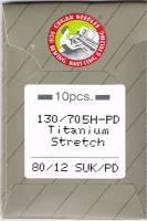 Nähmaschinennadeln Organ Titanium 80/12 SUK/PD - für Sweatshirtstoffe