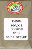 Nähmaschinen- und Sticknadeln 80/12 SES/BP