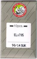 Overlock-/Coverlocknadeln ELx705 90/14 SUK Brief à 10 Nadeln