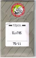 Overlock-/Coverlocknadeln ELx705 75/11 Brief à 10 Nadeln