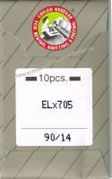Overlock-/Coverlocknadeln ELx705 90/14 Brief à 10 Nadeln